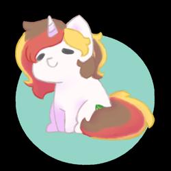 Size: 1000x1000 | Tagged: safe, artist:bubblegum, oc, oc only, oc:scarlet serenade, pony, unicorn, chibi, cute, female, feral, mare, simple background, sitting, solo, transparent background