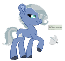 Size: 1685x1592 | Tagged: safe, artist:koloredkat, oc, oc only, earth pony, pony, unicorn, colored hooves, female, magical lesbian spawn, mare, offspring, parent:limestone pie, parent:trixie, raised hoof, simple background, transparent background