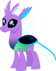 Size: 1175x1500 | Tagged: safe, artist:cloudyglow, oc, oc only, oc:mint bailey, changedling, changeling, black sclera, changelingified, male, movie accurate, purple changeling, simple background, sims 4, solo, species swap, transparent background