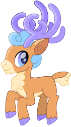 Size: 678x1200 | Tagged: safe, artist:cloudyglow, oc, oc only, unnamed oc, deer, reindeer, antlers, male, movie accurate, raised hoof, simple background, solo, transparent background