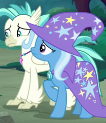 Size: 310x360 | Tagged: safe, screencap, terramar, trixie, student counsel, spoiler:s09e11, cropped