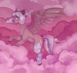 Size: 1280x1216 | Tagged: safe, artist:akiiichaos, oc, oc:lullaby, pegasus, pony, cloud, female, mare, solo