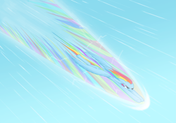 Size: 5301x3736 | Tagged: safe, artist:vladimir-olegovych, rainbow dash, pegasus, pony, awesome, badass, cool, epic, fast, female, flying, mare, sky, speed lines, wings