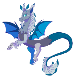 Size: 1200x1200 | Tagged: safe, artist:p-kicreations, oc, oc only, oc:elizard draco, draconequus, beard, bedroom eyes, commission, draconequus oc, facial hair, goatee, nonbinary, simple background, solo, transparent background