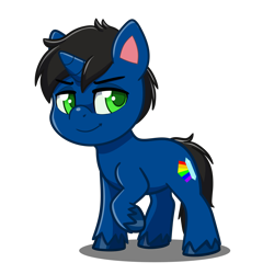 Size: 4093x4093 | Tagged: safe, artist:jcosneverexisted, oc, oc only, oc:ronan, pony, unicorn, my little pony: pony life, male, solo, stallion, unshorn fetlocks