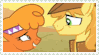 Size: 99x55   Tagged: safe, artist:shadowcatclaw, braeburn, little strongheart, braeheart, female, male, shipping, stamp, straight