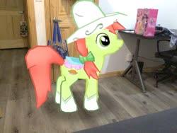 Size: 3272x2456 | Tagged: safe, edit, editor:topsangtheman, peachy sweet, pinkie pie, twilight sparkle, alicorn, earth pony, pony, my little pony: the movie, apple family member, augmented reality, gameloft, irl, photo, ponies in real life