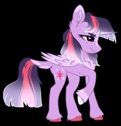 Size: 1397x1453 | Tagged: safe, artist:koloredkat, twilight sparkle, alicorn, pony, chest fluff, dock, female, fetish, frown, hoof fetish, mare, raised hoof, redesign, simple background, solo, transparent background, twilight sparkle (alicorn)