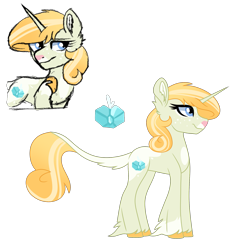 Size: 1893x1877 | Tagged: safe, artist:koloredkat, oc, oc only, oc:zircon, classical unicorn, pony, unicorn, chest fluff, cloven hooves, female, hoof fluff, leonine tail, magical lesbian spawn, mare, offspring, parent:applejack, parent:rarity, parents:rarijack, reference sheet, simple background, solo, story included, transparent background, unshorn fetlocks