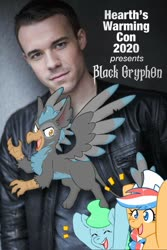 Size: 1000x1500 | Tagged: safe, oc, human, black gryph0n, hearth's warming con, irl, irl human, photo