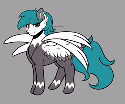 Size: 4096x3413 | Tagged: safe, artist:cyberafter, oc, oc only, pegasus, pony, four wings, multiple wings, simple background, solo, wings