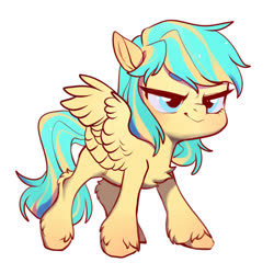 Size: 1280x1280 | Tagged: safe, artist:水母, oc, oc only, oc:lemonade candy, pegasus, pony, solo