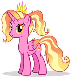 Size: 1183x1290 | Tagged: safe, artist:mlptmntdisneykauane, luster dawn, alicorn, alicornified, alternate universe, base used, colored wings, crown, female, gradient wings, jewelry, looking at you, lustercorn, mare, race swap, regalia, simple background, solo, transparent background, wings