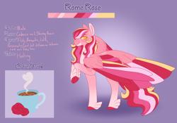 Size: 3500x2454 | Tagged: safe, artist:clay-bae, oc, oc:rome rose, pegasus, pony, male, offspring, parent:princess cadance, parent:shining armor, parents:shiningcadance, reference sheet, solo, stallion