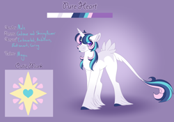 Size: 3500x2454 | Tagged: safe, artist:clay-bae, oc, oc:pure heart, pony, unicorn, male, offspring, parent:princess cadance, parent:shining armor, parents:shiningcadance, solo, stallion, tail feathers, unshorn fetlocks