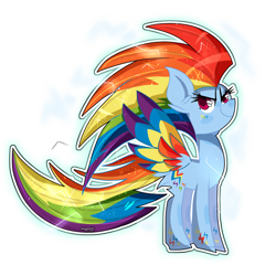 Size: 1920x1920 | Tagged: safe, artist:jxst-starly, rainbow dash, pegasus, pony, badass, colored wings, cool, female, mare, multicolored wings, rainbow wings, simple background, solo, wings
