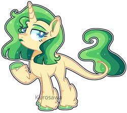 Size: 2658x2364 | Tagged: safe, artist:kurosawakuro, oc, classical unicorn, unicorn, base used, colored hooves, colored pupils, female, green lipstick, leonine tail, lipstick, magical lesbian spawn, mare, offspring, outline, parent:coco pommel, parent:sunset shimmer, simple background, solo, transparent background, unshorn fetlocks