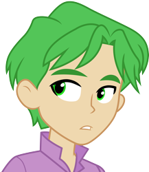 Size: 3000x3464 | Tagged: safe, artist:cloudyglow, spike, human, equestria girls, bust, clothes, human spike, humanized, simple background, transparent background