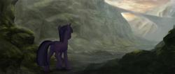 Size: 3360x1440 | Tagged: safe, artist:amarthgul, twilight sparkle, pony, unicorn, solo