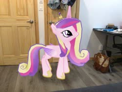 Size: 3272x2456 | Tagged: safe, princess cadance, alicorn, pony, augmented reality, gameloft, irl, photo, ponies in real life