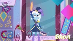 Size: 739x415 | Tagged: safe, screencap, trixie, equestria girls, street magic with trixie, spoiler:eqg series (season 2), sword, weapon, youtube thumbnail