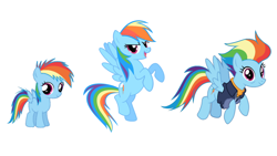 Size: 1280x720 | Tagged: safe, rainbow dash, pegasus, pony, the last problem, spoiler:s09e26, age progression, comparison, female, filly, filly rainbow dash, flying, foal, mare, older, older rainbow dash, smiling, wings, younger