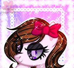 Size: 2460x2282   Tagged: safe, artist:domina-venatricis, oc, oc:monse, pony, bust, female, mare, portrait, solo