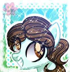 Size: 2360x2394 | Tagged: safe, artist:domina-venatricis, oc, oc:fernanda, pony, bust, female, mare, portrait, solo