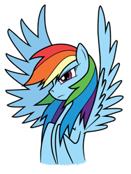 Size: 2121x2828 | Tagged: safe, artist:mach-volt, rainbow dash, pegasus, pony, female, mare, simple background, spread wings, transparent background, wings