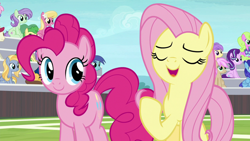 Size: 1920x1080   Tagged: safe, screencap, caramel, daisy, flower wishes, fluttershy, lily, lily valley, pinkie pie, starlight glimmer, 2 4 6 greaaat, spoiler:s09e15