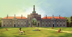 Size: 3874x2000   Tagged: safe, artist:28gooddays, oc, oc only, architecture, belarus, palace