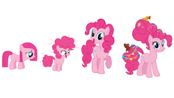 Size: 1280x720 | Tagged: safe, pinkie pie, earth pony, pony, the last problem, age progression, comparison, female, filly, filly pinkie pie, foal, mare, older, older pinkie pie, pinkamena diane pie, younger