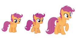 Size: 1280x720   Tagged: safe, scootaloo, pegasus, pony, growing up is hard to do, spoiler:s09e22, age progression, comparison, cutie mark, female, filly, foal, mare, older, older scootaloo, small wings, the cmc's cutie marks, wings
