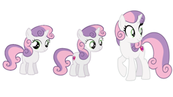 Size: 1280x720   Tagged: safe, sweetie belle, pony, unicorn, growing up is hard to do, spoiler:s09e22, age progression, comparison, cutie mark, female, filly, foal, horn, mare, older, older sweetie belle, the cmc's cutie marks
