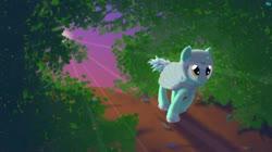 Size: 1244x699   Tagged: safe, alternate version, artist:quint-t-w, lyra heartstrings, pony, unicorn, armor, forest, old art, running, solo, sun, sun beam