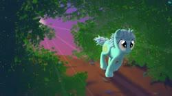 Size: 1244x699   Tagged: safe, alternate version, artist:quint-t-w, lyra heartstrings, pony, unicorn, forest, old art, running, solo, sun, sun beam