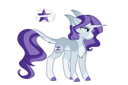 Size: 3000x2000 | Tagged: safe, artist:koloredkat, oc, oc only, oc:starshine, pony, unicorn, chest fluff, colored hooves, cutie mark, female, frown, leonine tail, magical lesbian spawn, mare, offspring, parent:starlight glimmer, parent:trixie, parents:startrix, reference sheet, simple background, solo, transparent background