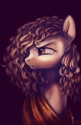 Size: 1920x2968 | Tagged: safe, artist:penny-wren, oc, oc only, pony, bust, curly hair, curly mane, redraw, solo