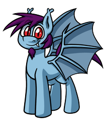 Size: 911x1030 | Tagged: safe, artist:alittleofsomething, oc, oc only, pony, vampire, vampony, 2020 community collab, derpibooru community collaboration, bat wings, digital art, fangs, simple background, solo, transparent background, wings