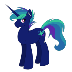 Size: 1280x1280 | Tagged: safe, artist:thr3eguess3s, oc, oc only, oc:flashbang, pony, unicorn, cutie mark, ear piercing, horn, long horn, magical lesbian spawn, offspring, parent:rainbow dash, parent:sunset shimmer, parents:sunsetdash, piercing, simple background, solo, transparent background