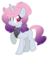 Size: 600x738 | Tagged: safe, artist:ipandacakes, oc, oc only, pony, unicorn, bandana, base used, deviantart watermark, female, magical lesbian spawn, mare, obtrusive watermark, offspring, parent:pinkie pie, parent:rarity, parents:raripie, simple background, solo, transparent background, watermark