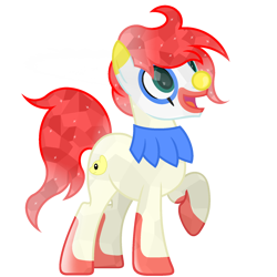 Size: 1800x1800 | Tagged: safe, artist:ponkus, oc, oc only, oc:jester jokes, crystal pony, earth pony, pony, base used, clown, clown makeup, clown nose, simple background, solo, transparent background