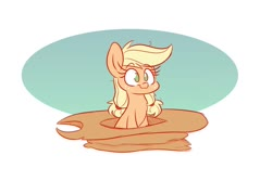Size: 1200x800 | Tagged: safe, artist:heir-of-rick, applejack, earth pony, pony, applejack's hat, cowboy hat, cute, female, filly, filly applejack, freckles, hat, jackabetes, mare, no pupils, simple background, sitting, solo, stetson, white background, younger