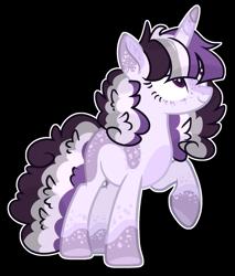 Size: 1491x1749 | Tagged: safe, artist:chococolte, oc, oc:lavender lust, pony, unicorn, female, mare, parent:twilight sparkle, parents:canon x oc, simple background, solo, transparent background