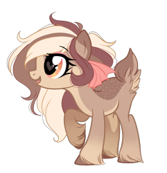 Size: 2468x2559 | Tagged: safe, artist:emberslament, oc, oc only, oc:coffee cream, deer, deer pony, original species, bow, cute, female, hair bow, heart eyes, looking up, open mouth, simple background, transparent background, unshorn fetlocks, wingding eyes