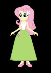 Size: 638x914 | Tagged: safe, alternate version, artist:cartoonmasterv3, fluttershy, equestria girls, alternate universe, clothes, long skirt, skirt, solo, vector