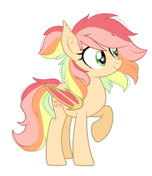 Size: 2735x3163 | Tagged: safe, artist:emberslament, oc, oc only, oc:citrus twist, bat pony, pony, ear fluff, fangs, female, freckles, simple background, transparent background