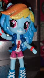 Size: 1440x2560 | Tagged: safe, rainbow dash, equestria girls, doll, equestria girls minis, photo, solo, toy