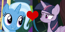 Size: 1310x640 | Tagged: safe, mean twilight sparkle, trixie, road to friendship, the mean 6, female, lesbian, mean twixie, shipping, shipping domino, twixie