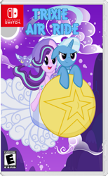 Size: 463x750 | Tagged: safe, starlight glimmer, trixie, pony, unicorn, cape, clothes, female, hat, kirby, kirby air ride, mare, nintendo switch, parody, rocket, toy interpretation, trixie's cape, trixie's hat, trixie's rocket, video game
